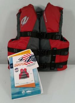 Life Jacket, Red, Youth 50-90 LBS., Stearns, 3000004472