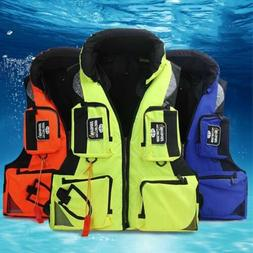 Life Jacket Survival Water Sports Outdoor Fishing Adult Swim