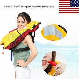 Life Jacket Swiming Life Vest TPU Waterproof Durable Inflata