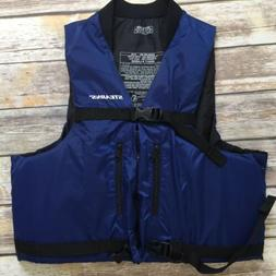 Stearns Life Jacket Vest Boating Rafting Zip Front Blue Adul