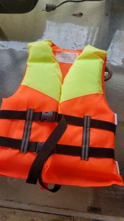 Life Jacket Vest Preserver 4-packs Adult Type II Orange Boat
