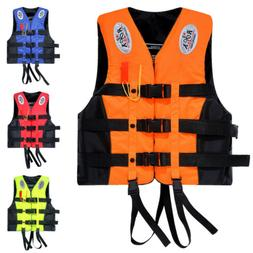 Life Jacket Vest Swimming Adult PFD 4 colors Fully Enclosed
