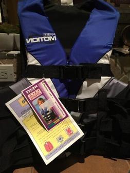 Kent Life Jacket XL Adult New Blue Free Motion Life Vest