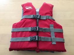 Life Jacket Stearns Youth Type III PFD Flotation Aid Red/Gra