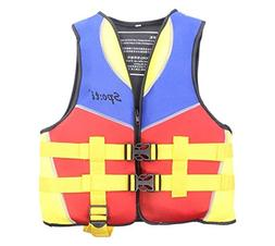 Genwiss Life Jackets for Girls Boys Neoprene Child Life Vest