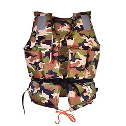 Life Vest, Adult Camouflage Life Saving Jacket Aid Buoyancy