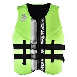 Life Vest, Adult Life Saving Jacket Aid Buoyancy Waistcoat f