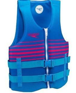 Speedo Adult XL/XXL Life Vest Blue & Pink for sizes over 90