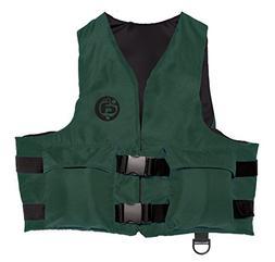 Sport Life Vest w Pockets, Adult Universal,  Hunter Green