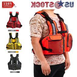 Lifesaving Vest Life Jacket Swimming Fishing Drift Suit w/Wh
