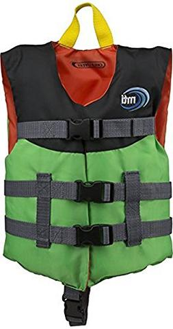 MTI Adventurewear Child Livery Life Jacket, Bright Green/Bla