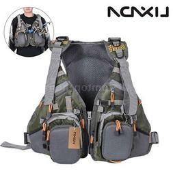 Lixada 3 In 1 Mesh Fly Fishing Vest and Backpack Breathable