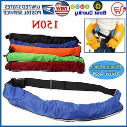 Manual/Auto Adult Inflatable Waist Belt Pack Life Jacket wit