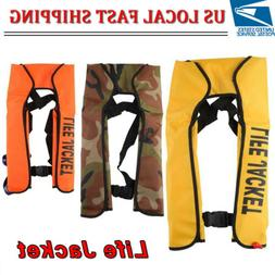 Manual Inflatable Life Jacket Portable Life Vest Adult for W