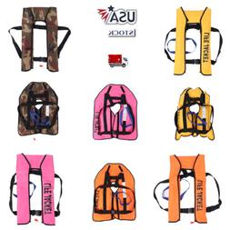 Manual Inflatable Life Vest Adults Survival Jackets Automati