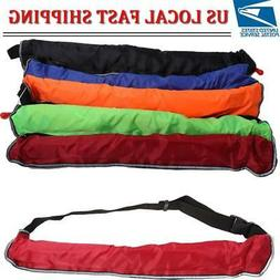 Manual Inflatable Paddle-board Belt Pack Life Jacket PFD + W