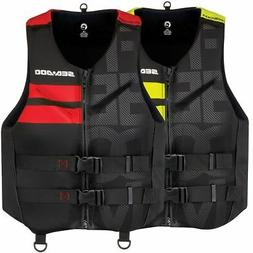 Sea Doo Men's Freedom Life Jacket Yellow Red Small - 3X