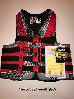 Body Glove Men's Life Jacket  - Type III Torque 2 - Red/Blac