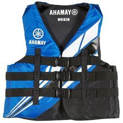 YAMAHA Men's Life Jacket Ski Vest 3 Buckle PFD PWC Nylon LAR