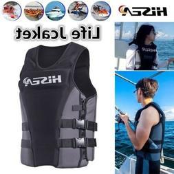 Men Women Professional Life Jacket Vest Neoprene Swimming Su