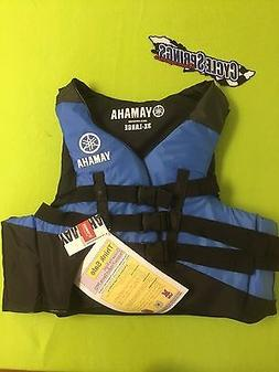 YAMAHA MENS 3-BUCKLE NYLON PFD VEST LIFE JACKET MAR-15V3B-BL