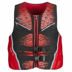 Full Throttle Mens Life Jacket Rapid-Dry Flex-Back-Red-XL 14