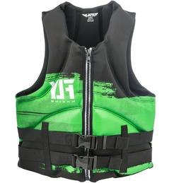 Mens NEOPRENE Life Jacket Fly Racing Safety Vest Full Zip w
