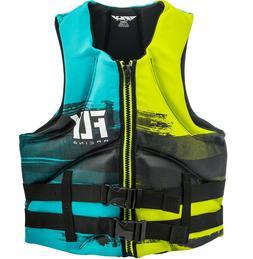 Mens NEOPRENE Life Jacket Fly Racing Safety Vest Zip w Buckl