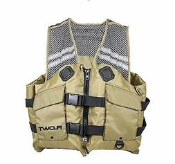Flowt 40626-L/XL Mesh Fishing Adult Life Vest Type III PFD,