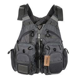 Lixada Fly Fishing Vest,Fishing Safety Life Jacket Breathabl