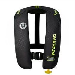 Mustang MIT 100 Inflatable Manual PFD - Black/Flourescent Ye