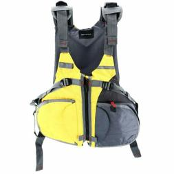 Kayak Fishing Safety Life Jacket Vest Adjustable Size Person