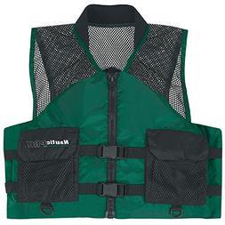 Nautic Pro Mesh Fishing Life Jacket Vest PFD Medium Green
