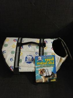 Paws Aboard NAUTICAL Dog Doggy Pet Life Vest Jacket Small 15