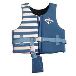 Navy Blue Swim Vest Learn-to-Swim Floatation Jackets for Kid