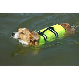 Neon Yellow Doggy Life Jacket