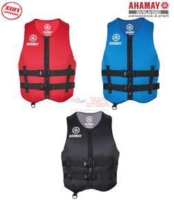 YAMAHA Neoprene 2-Buckle PFD Life Jacket Vest USCG Appv Red