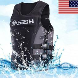 Neoprene Adults Life Jacket Safety Swimming Vest Water PFD W