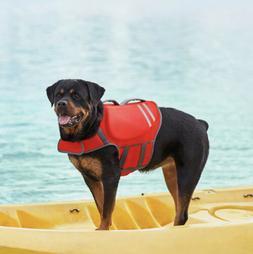 Frisco Neoprene Dog Life Jacket Size X-Large Red Gray