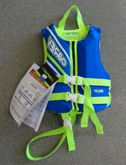 O'Brien Child Neoprene Life Vest, Blue/Green, 30-50-Pound