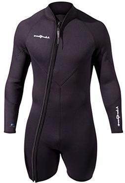 NeoSport Men's Premium Neoprene 5mm Waterman Wetsuit Jacket,