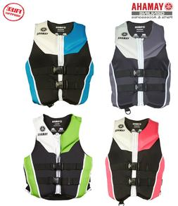 YAMAHA Neoprene Women's PFD Life Jacket Vest USCG Appv Red B