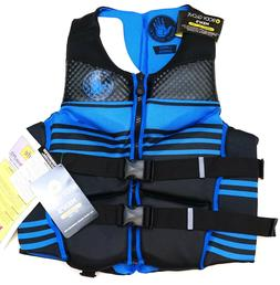 New Body Glove Black & Blue Striped Men's PFD Life Jacket M/