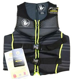 New Body Glove Black Grey Neon Green Men's PFD Life Jacket L