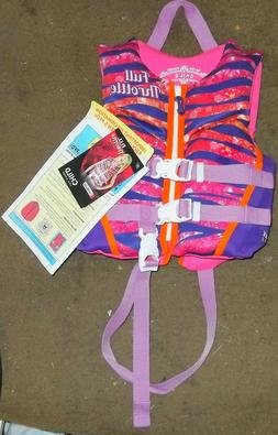 New Full Throttle Child Flotation Aid Life Jacket Pink/Purpl