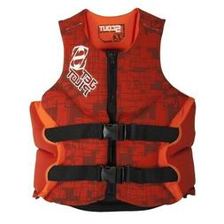 NEW Jet Pilot Scout Red PFD Mens Wakeboard Boating Life Jack