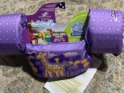 NEW STEARNS KIDS DELUXE 3D ORIGINAL PUDDLE JUMPER PURPLE WIT