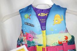 New Airhead Life Jacket Child's 30-50 lbs. Treasure  Zipper