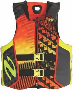 XXL Stearns Black Orange Neoprene Life Jacket Wakeboard Vest