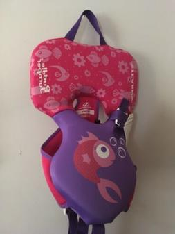 NEW Stearns Pink Infant Puddle Jumper Hydroprene Fish Print